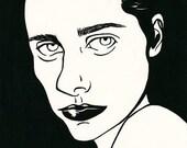 PJ Harvey black and white portrait art print rock indie music