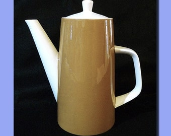 Mid-Century 60s - 70s  Vintage Retro Coffee Carafe Mikasa -- Very Latte Color , Very Lovely Shape -- A True Modern Classic