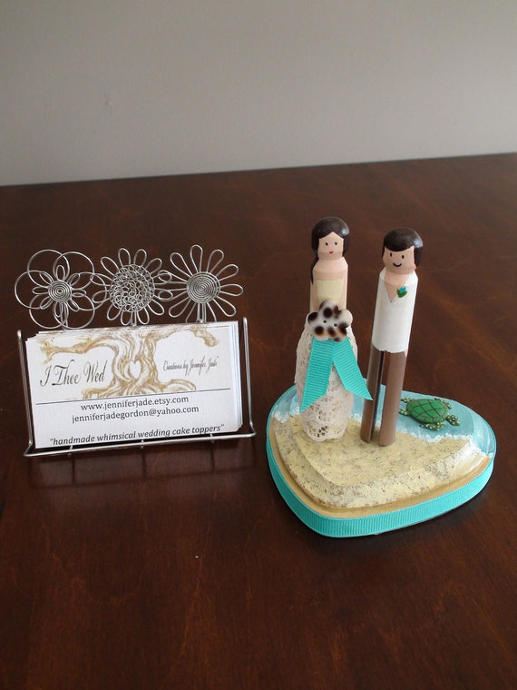 By the Shore Destination Wedding Cake Topper