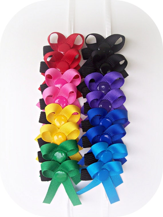 The Original Snap-In Dog Hair Bows - 8 Pairs of Bows ( B )