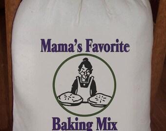 Feed Sack, Flour Sack Bag, Baking Sack, Prim Decor, Country Decor, Muslin Bag, Vintage Feed Sack, Cotton Sack, Mamas Favorite Baking Mix