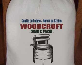Feed Sack, Flour Sack Bag, Laundry Sack, Prim Decor, Country Decor, Muslin Bag, Vintage Sack, Cotton Sack, Woodcroft Soak n Wash Laundry