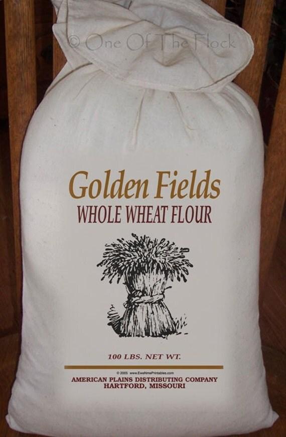 Feed Sack Flour Sack Bag Prim Decor Wheat Sack Country