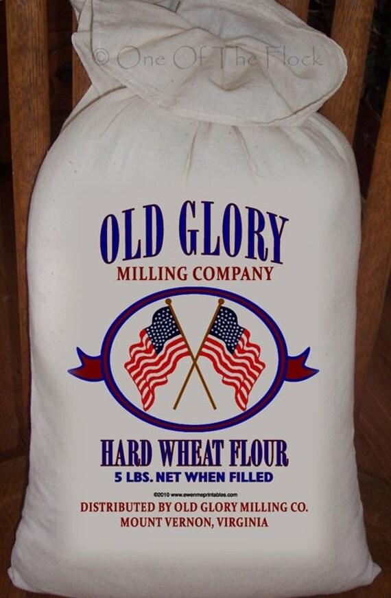 Feed Sack Flour Sack Bag Prim Decor Flag Sack Decor Muslin