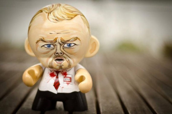 """Price Reduced - 7"""" """"Shaun Of The Dead"""" hand-painted Munny figure (Shaun)"""