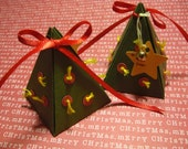 Ultra Mini Christmas Tree Gift Box with tag (set of 6)
