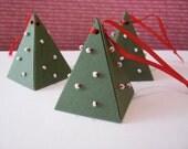 Ultra Mini Christmas Tree Gift Box (set of 6)