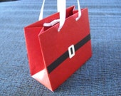 Santa Dress Christmas Mini Gift Bag (set of 6)