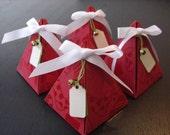 Mini Christmas Tree Gift Box with tag(set of 4)