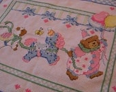 Counted Cross Stitch Circus Parade Birth Announcement