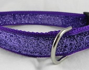 Purple Metallic Sparkle Dog Collar