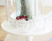 Vintage Glass Candlewick Sugar and Creamer Set