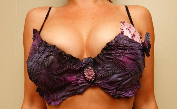 Beautiful Handmade Burlesque Bra  - Size 36C