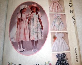 PATTERN FOR GIRL S DRESS  SIZES 2-3-4