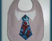 Baby boy bib Spiderman themed ready to personalize