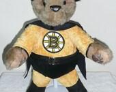 Boston Bruins Stuffed Teddy Bear SuperHero
