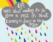 Dance in the Rain - 11x14 Art Print