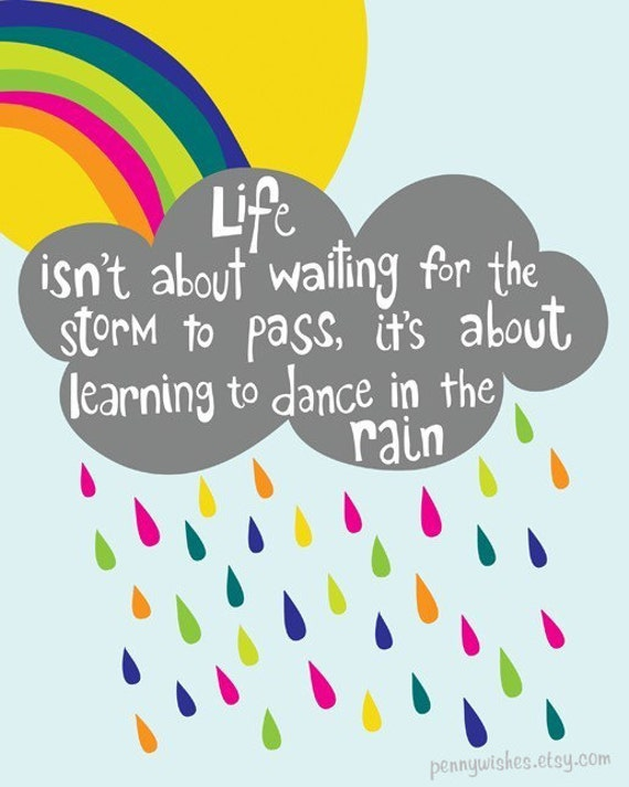 Dance in the Rain - 8x10 Art Print