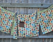 Clearance--Tea Time Half Apron--Domestic Cuteness--Only One Left