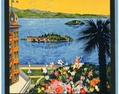 DIGITAL Download, ITALY, Regina Palace Hotel, Luggage Label, Travel, Tourist, Stresa, Souvenir, Old, Paper, Beautiful Colors, Blue