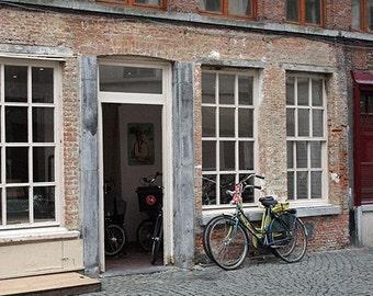Bicycle Repair Shop in Antwerp, Belgium - Limited Edition fine art print on Kodak Endura Metallic paper in 5x7, 8x10, 11x14 and more