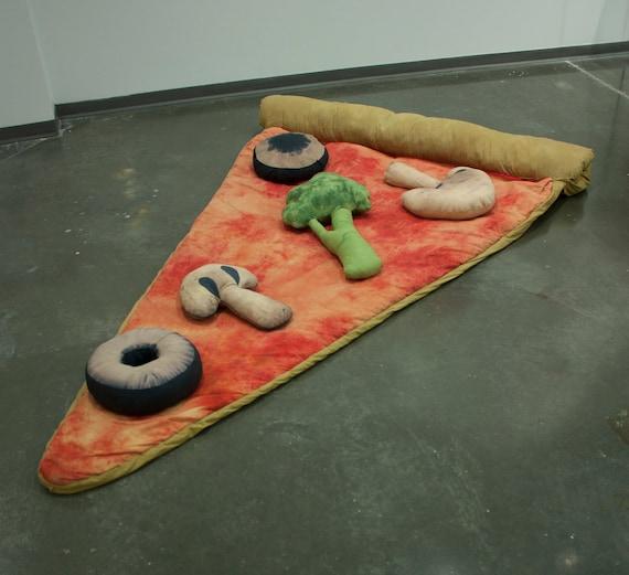 Slice of Pizza Sleeping Bag w/ Veggie Pillows