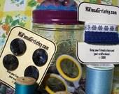 Purple Art Deco Pincushion Jar