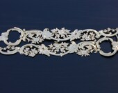DOUBLE FILIGREE gold foil Paper embossed Dresden Victorian Scrap Art from Germany