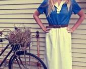 Blue and White Tee-shirt Dress