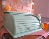 Shabby Chic Wooden Rolltop Bread Box