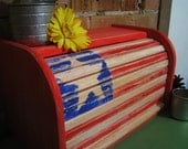 Americana Rolltop Bread Box Kitchen Decor