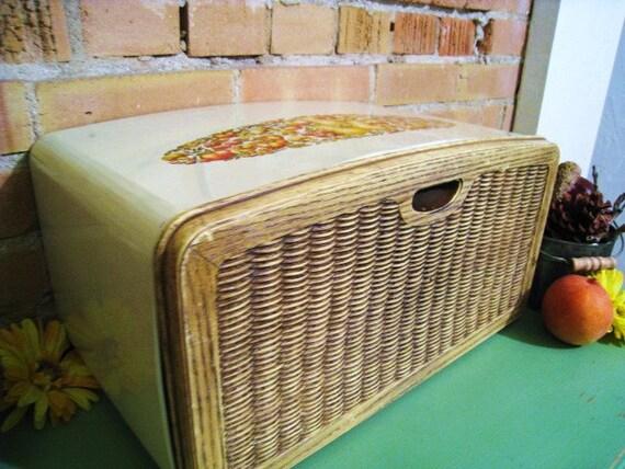 Vintage Burlington Crafts Bread Box Kitchen Decor
