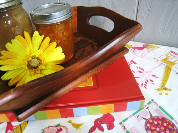 Vintage Table Cloth, Cook Book, Bread Tray Gift Set Home and Living