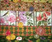 Birds in the Flower Garden Quilt Handmade Hummingbird Roses Sparrow Honeysuckle Wall Hanging