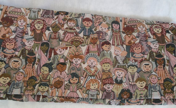 Tapestry fabric children of the world kids in by for Children of the world fabric