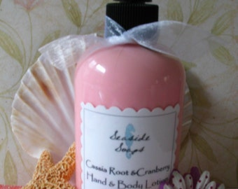 Cassia Root \/ Cranberry Hand and Body Lotion