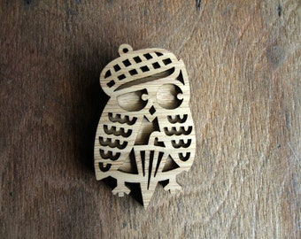 SALE! Dapper Owl Brooch