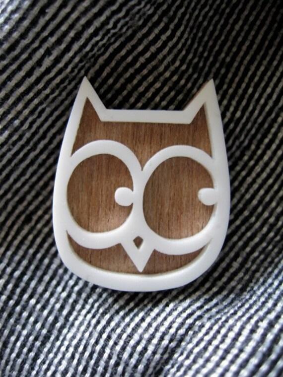 Snowy Owl Hootie Brooch