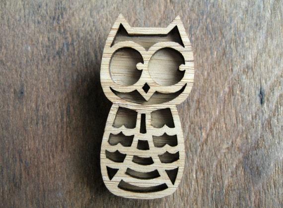 Little Brown Owl Brooch