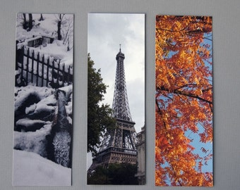 Travel Bookmarks - Hokkaido, Paris, Yountville (Set of 3)