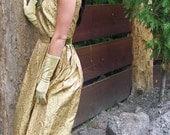 RESERVED for Mel-4-1-2012- Vintage 1950s Brocade and Velvet Cocktail Dress