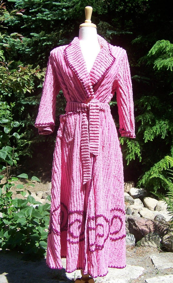 All Wrapped Up Vintage 1950s Chenille Robe By