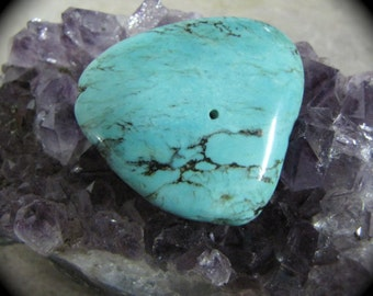 Morenci American Turquoise Free Form Polished Natural Cabachon Bead Supply