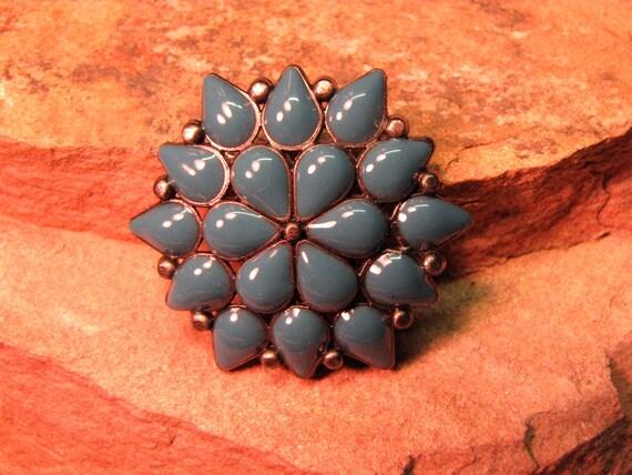 Vintage Turquoise Enameled Brooch/Pendant