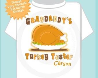 Children's Personalized Thanksgiving Shirt or Onesie, Grandaddy's Turkey Tester