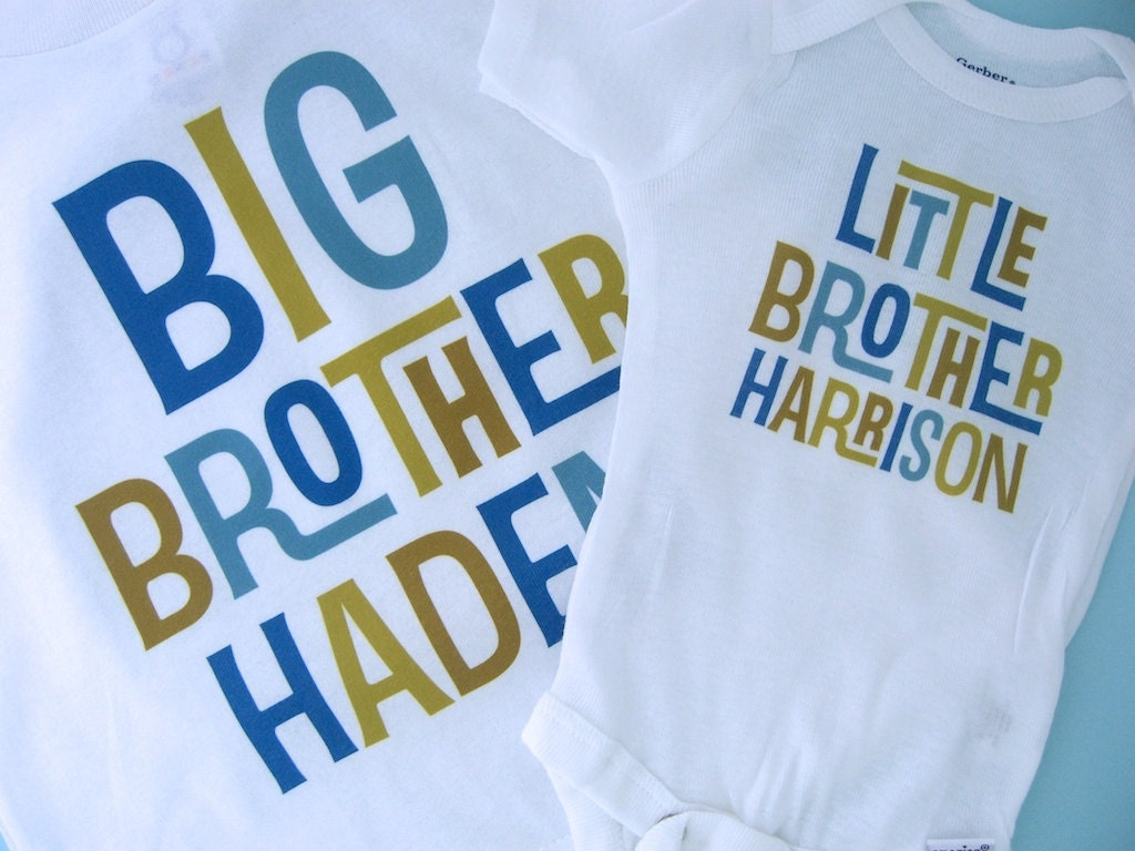 🔎zoom - Big Brother Little Brother Shirt Set Of 2 Sibling Shirt