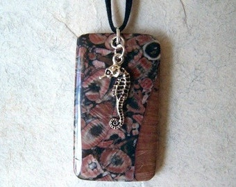Fossil Seahorse Necklace