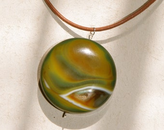 Planetary Druzy Agate Cabochon Necklace