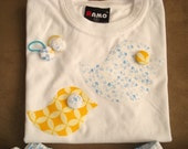 YELLOW CHIC Alice Loves - bird print Skirt and Tshirt SET Size 3 - 5