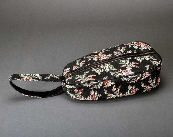 Vintage  tapestry  shoe bag tote